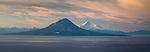 Augustine Volcano and Mount Iliamna, Katmai National Park, Alaska