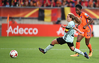 20170724 - TILBURG , NETHERLANDS : Belgian Davina Philtjens (R) and Dutch Liza van der Most (L)  pictured during the female soccer game between Belgium and The Netherlands  , the thirth game in group A at the Women's Euro 2017 , European Championship in The Netherlands 2017 , Monday 24 th June 2017 at Stadion Koning Willem II  in Tilburg , The Netherlands PHOTO SPORTPIX.BE | DIRK VUYLSTEKE