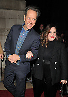 Richard E. Grant and Melissa McCarthy at the Charles Finch &amp; Chanel Pre-BAFTAs Dinner, No. 5 Hertford Street (Loulou's), Hertford Street, London, England, UK, on Saturday 09th February 2019.<br /> CAP/CAN<br /> &copy;CAN/Capital Pictures