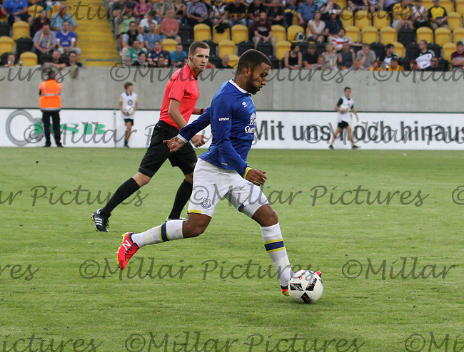 Aaron Lennon in the Dynamo Dresden v Everton match in the Bundeswehr Karriere Cup Dresden 2016 played at the DDV Stadion, Dresden on 29.7.16.