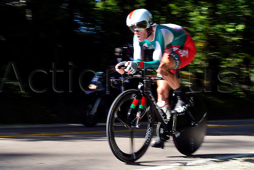 23.09.2015. Richmond, Virginia, USA. World Championship Cycling, Mens Elite time trials.  Basil Kiryienka of Bulgaria pictured during the individual Time Trial Elite men at the UCI Road World Cycling Championships in Richmond, United States of America