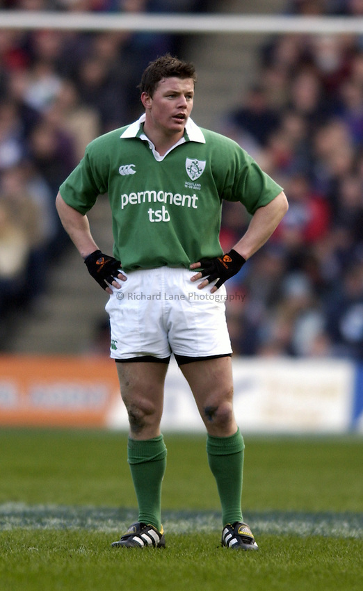 Photo. Jed Wee.Scotland v Ireland, Rugby Union Six Nations Championship, Murrayfield, Edinburgh. 16/02/2003..Ireland's Brian O'Driscoll.