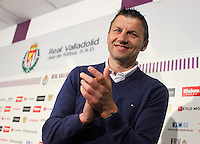 Real Valladolid´s coach Miroslav Djukic during his farewell press conference. Djukic says goodbye to the local press after two years training the football team, he has received offers for being Valencia´s or Benfica´s coach next season. May 30, 2013. (Victor Blanco/Alterphotos) ©NortePhoto