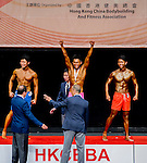 Winners of the Men's Sport Physique 175cm or above (Group C) category during the 2016 Hong Kong Bodybuilding Championships on 12 June 2016 at Queen Elizabeth Stadium, Hong Kong, China. Photo by Lucas Schifres / Power Sport Images