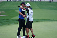 Brooks Koepka (USA) celebrates on the 18th green during the final round at the PGA Championship 2019, Beth Page Black, New York, USA. 20/05/2019.<br /> Picture Fran Caffrey / Golffile.ie<br /> <br /> All photo usage must carry mandatory copyright credit (© Golffile | Fran Caffrey)
