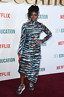 "Clara Amfo<br /> arriving for the ""Sex Education"" season 2 launch at Genesis Cinema Mile End Road, London.<br /> <br /> ©Ash Knotek  D3547 08/01/2020"