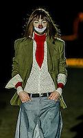 A model presents a creation by David Delfin during the Pasarela Cibeles fashion show 2005, February 17, 2005 in Madrid. Photo by Victor Fraile / studioEAST