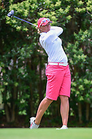 Katherine Kirk (AUS) watches her tee shot on 18 during round 3 of  the Volunteers of America Texas Shootout Presented by JTBC, at the Las Colinas Country Club in Irving, Texas, USA. 4/29/2017.<br /> Picture: Golffile | Ken Murray<br /> <br /> <br /> All photo usage must carry mandatory copyright credit (&copy; Golffile | Ken Murray)