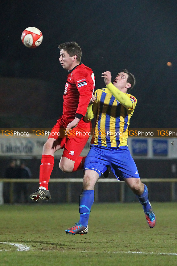 Nick Reynolds in action for Romford - Romford vs AFC Sudbury - Ryman League Division One North Football at Ship Lane, Thurrock FC - 27/03/13 - MANDATORY CREDIT: Gavin Ellis/TGSPHOTO - Self billing applies where appropriate - 0845 094 6026 - contact@tgsphoto.co.uk - NO UNPAID USE.