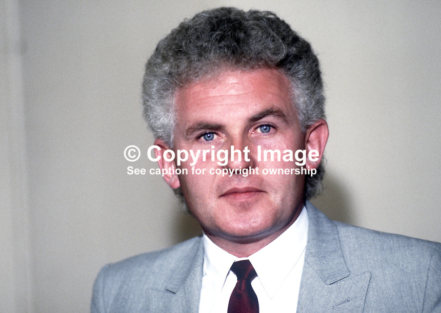 John Macreadie, general secretary, designate, CPSA, trade union, at annual conference, UK Labour Party, September 1986, 19860909JM<br />