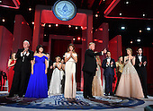 President Donald Trump and First Lady Melania Trump appear with family members and Vice President Mike Pence and his wife Karen Pence at the Liberty Ball at the Washington Convention Center on January 20, 2017 in Washington, D.C. Trump will attend a series of balls to cap hisInauguration day.    <br /> Credit: Kevin Dietsch / Pool via CNP