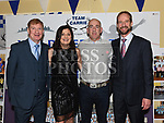 Rory McCullough, Ian Pat Carolan, David and Aileen Carrie who ran 8 Dublin City Marathons in a row at the Team Carrie presentation night held in the Grove hotel Dunleer. Photo:Colin Bell/pressphotos.ie