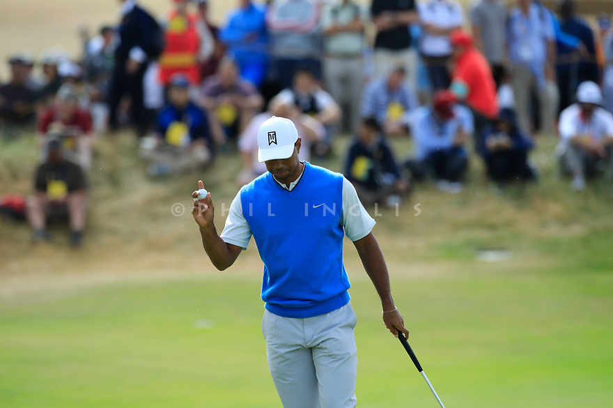 Tiger Woods (USA) during the first round of the 147th Open Championship played at Carnoustie Links, Angus, Scotland. 19/07/2018<br /> Picture: Golffile   Phil Inglis<br /> <br /> All photo usage must carry mandatory copyright credit ©Phil INGLIS)