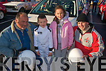 RALLY ACTION: At the start of the Banna Beach resort mini stages rally last Sunday morning were l-r: Ray Hillard (Listowel), Gavin, Grainne and Senan Raggett from Tralee.