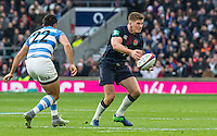 Owen Farrell in action, England v Argentina in an Old Mutual Wealth Series, Autumn International match at Twickenham Stadium, London, England, on 26th November 2016. Full Time score 27-14