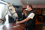 Edward Lee and his horse Wilson enjoy a few drinks at The laide Bar in Ballinagree, Macroom, County Cork.<br /> Photo: Don MacMonagle