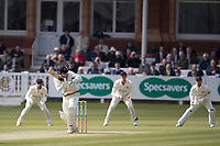 Sam Robson of Middlesex CCC pushes square of the wicket to get off the mark during Middlesex CCC vs Lancashire CCC, Specsavers County Championship Division 2 Cricket at Lord's Cricket Ground on 11th April 2019
