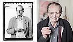 Remco Campert, in 1992 en 2016<br /> Foto Felix Kalkman