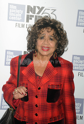 Frances Davis attends the 53rd New York Film Festival - closing night gala presentation and premiere of 'Miles Ahead' at Alice Tully Hall  on October 10, 2015 in New York. Credit: Dennis Van Tine/MediaPunch