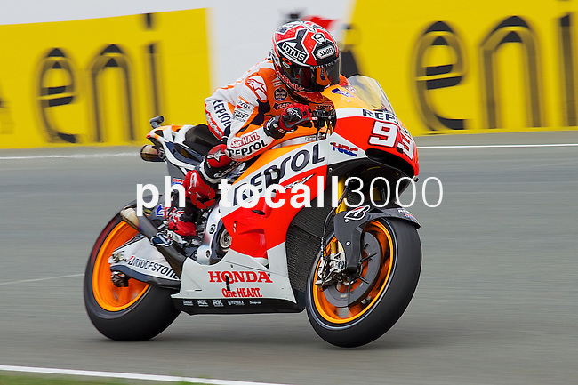 GP Deutschland during the World Championship 2014.<br /> Sachsering, Germany.<br /> Qualifiying Practices<br /> marc marquez<br /> Rafa Marrodán by PHOTOCALL3000