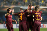 Radja Nainggolan of AS Roma celebrates with teammates during the match Villarreal CF vs AS Roma, part of the UEFA Europa League 2016-17 Round of 32 at the Estadio de la Cerámica on 16 February 2017 in Villarreal, Spain. Photo by Maria Jose Segovia Carmona / Power Sport Images