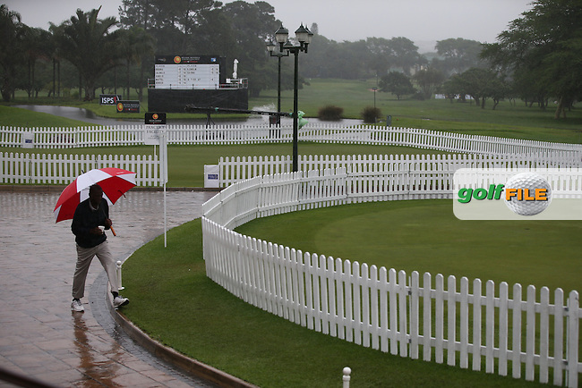 Round One abandoned on day two due to inclement weather conditions and waterlogged course at The Nelson Mandela Championship 2013 presented by ISPS Handa, at the Mount Edgecombe Country Club, KwaZulu-Natal, South Africa. Picture:  David Lloyd / www.golffile.ie