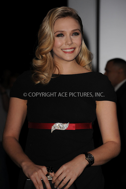 WWW.ACEPIXS.COM . . . . . .November 15, 2011...New York City....Elizabeth Olsen attends the Museum of Modern Art's 4th Annual Film benefit 'A Tribute to Pedro Almodovar' at the Museum of Modern Art on November 15, 2011 in New York City....Please byline: KRISTIN CALLAHAN - ACEPIXS.COM.. . . . . . ..Ace Pictures, Inc: ..tel: (212) 243 8787 or (646) 769 0430..e-mail: info@acepixs.com..web: http://www.acepixs.com .