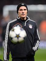 FUSSBALL  CHAMPIONS LEAGUE  ACHTELFINALE  HINSPIEL  2012/2013      FC Arsenal London - FC Bayern Muenchen       19.02.2013 Mario Gomez (FC Bayern Muenchen)
