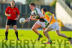 Padraig O'Sullivan South Kerry in Action against Danny Sheahan Legion in the Kerry County Senior Football Final at Fitzgerald Stadium on Sunday.