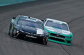 #19: Brandon Jones, Joe Gibbs Racing, Toyota Camry Juniper and #22: Austin Cindric, Team Penske, Ford Mustang MoneyLion