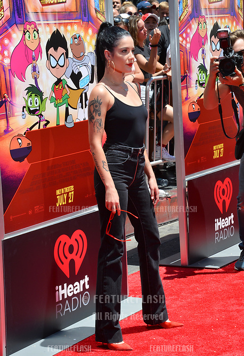 Halsey at the premiere for &quot;Teen Titans Go! to the Movies&quot; at the TCL Chinese Theatre, Los Angeles, USA 22 July 2018<br /> Picture: Paul Smith/Featureflash/SilverHub 0208 004 5359 sales@silverhubmedia.com