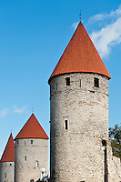City wall and towers, Tallinn, Estonia