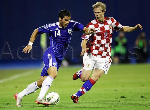 06 09 2011  UEFA European Championship 2012 Qualification  Croatia vs Israel Picture shows Tomer Hemed ISR and Ivan Strinic CRO