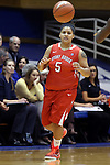 28 November 2014: Stony Brook's Kori Bayne-Walker. The Duke University Blue Devils hosted the Stony Brook University Seahawks at Cameron Indoor Stadium in Durham, North Carolina in a 2014-15 NCAA Division I Women's Basketball game. Duke won the game 72-42.