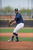 Seattle Mariners relief pitcher Tommy Romero (36) during a Minor League Spring Training game against the San Diego Padres at Peoria Sports Complex on March 24, 2018 in Peoria, Arizona. (Zachary Lucy/Four Seam Images)