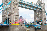 Dump Trump's Trade Deal Banner Dropped From Tower Bridge