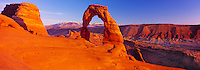 Delicate Arch & La Sal Mountains Panoramic, Arches National Park, Utah