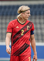 Belgium's captain Sebastiaan Bornauw (2) pictured during a soccer game between the national teams Under21 Youth teams of Belgium and Germany on the 5th matday in group 9 for the qualification for the Under 21 EURO 2021 , on tuesday 8 th of September 2020  in Leuven , Belgium . PHOTO SPORTPIX.BE | SPP | SEVIL OKTEM