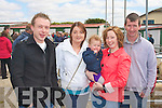 FUN AT THE FAIR: Having great fun at the Kingdom County Fair on Sunday l-r: Noel Brosnahan, Christina Ahern, Alana Herlihy, Ursula Brosnahan and Michael Brosnahan from Athea and Templeglantine.