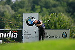 Damien McGrane (IRL) in action on the 7th tee during Day 3 of the BMW Italian Open at Royal Park I Roveri, Turin, Italy, 11th June 2011 (Photo Eoin Clarke/Golffile 2011)
