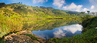 Haputale, panoramic photo of a lake, Nuwara Eliya District, Sri Lanka Hill Country, Asia. This is a panoramic photo of a beautiful lake at Haputale in the Nuwara Eliya District of the Sri Lanka Hill Country, Asia.