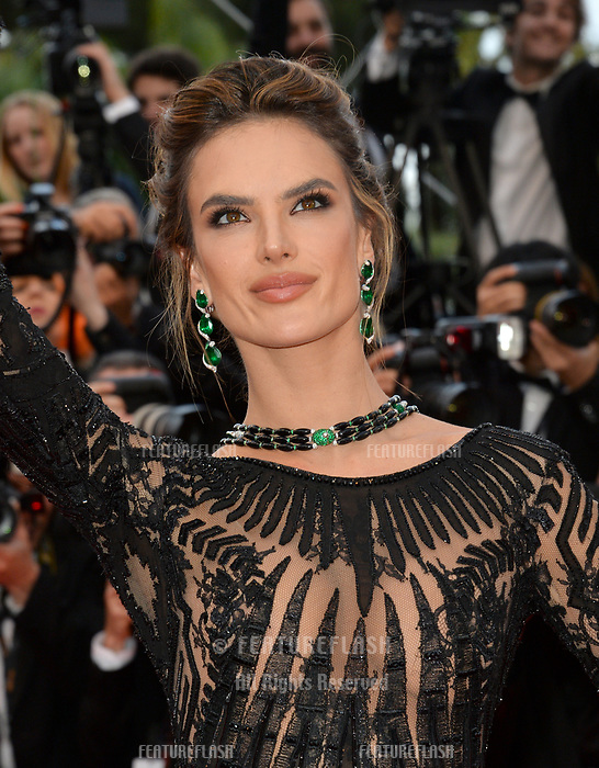 Alessandra Ambrosio at the gala screening for &quot;BLACKKKLANSMAN&quot; at the 71st Festival de Cannes, Cannes, France 14 May 2018<br /> Picture: Paul Smith/Featureflash/SilverHub 0208 004 5359 sales@silverhubmedia.com