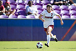 ORLANDO, FL - DECEMBER 03: Jaye Boissiere #7 of Stanford University pushes the ball upfield against UCLA during the Division I Women's Soccer Championship held at Orlando City SC Stadium on December 3, 2017 in Orlando, Florida. Stanford defeated UCLA 3-2 for the national title. (Photo by Jamie Schwaberow/NCAA Photos via Getty Images)