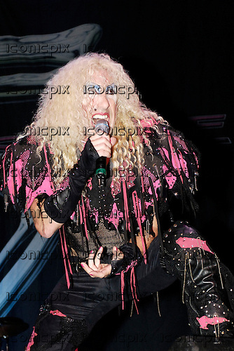 Twisted Sister - vocalist  Dee Snider - performing live at the Wembley Arena Pavillion, London UK - 06 Nov 2005 . Photo by: George Chin/IconicPix