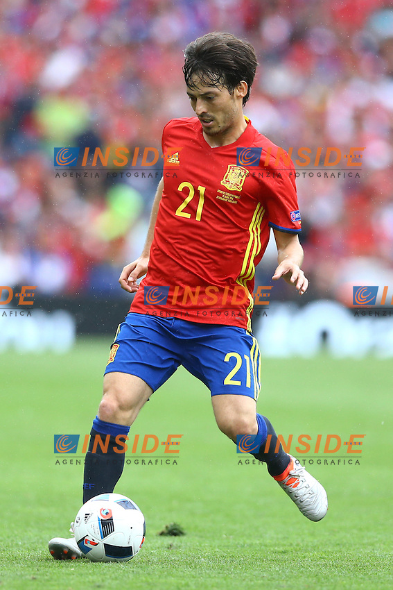 David Silva Spagna<br /> Toulouse 13-06-2016 Stade Municipal Footballl Euro2016 Spain - Czech Republic  / Spagna - Repubblica Ceca Group Stage Group D. Foto Matteo Ciambelli / Insidefoto