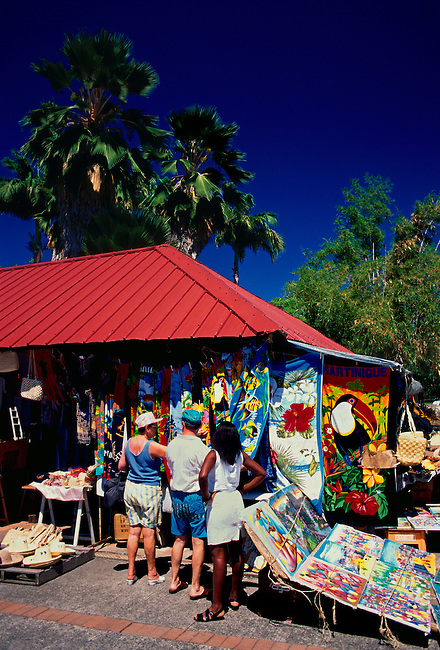 Craft market at Place de la Savane, Fort de France, Martinique, French West Indies