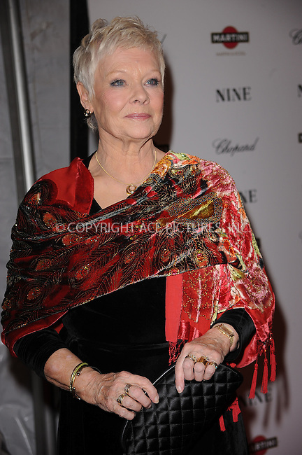 WWW.ACEPIXS.COM . . . . . ....December 15 2009,  New York City....Dame Judi Dench arriving at the New York premiere of 'Nine' at the Ziegfeld Theatre on December 15 2009 in New York City....Please byline: KRISTIN CALLAHAN - ACEPIXS.COM.. . . . . . ..Ace Pictures, Inc:  ..(212) 243-8787 or (646) 679 0430..e-mail: picturedesk@acepixs.com..web: http://www.acepixs.com