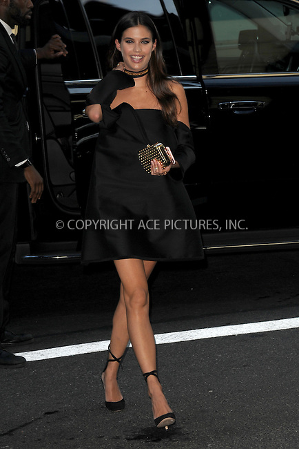 www.acepixs.com<br /> September 8, 2016  New York City<br /> <br /> Sara Sampaio attending the The Daily Front Row's 4th Annual Fashion Media Awards at Park Hyatt New York on September 8, 2016 in New York City. <br /> <br /> <br /> Credit: Kristin Callahan/ACE Pictures<br /> <br /> <br /> Tel: 646 769 0430<br /> Email: info@acepixs.com