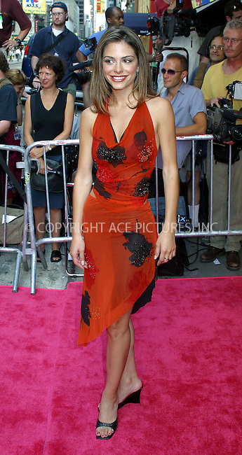 "Opening night for Broadway's newest and hottest show, ""Hairspray"" at Neil Simon Theatre. New York, August 15, 2002. Pictured is Maria Menounos who is ""Entertainment Tonight"" Correspondent. Please byline: Alecsey Boldeskul/NY Photo Press.   ..*PAY-PER-USE*      ....NY Photo Press:  ..phone (646) 267-6913;   ..e-mail: info@nyphotopress.com"