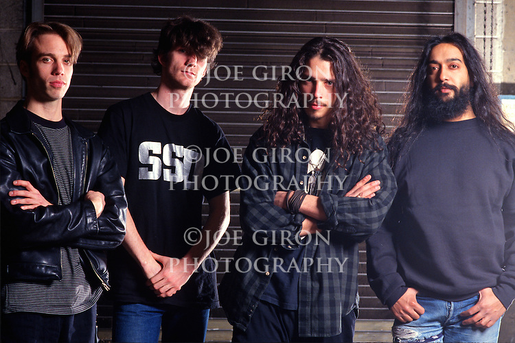 Various portraits & live photographs of the rock band, Soundgarden